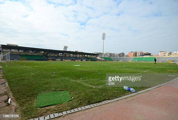 A general view shows the Port Said Stadium on February 2 a day after deadly clashes between rival football fans after a match between AlAhly and...