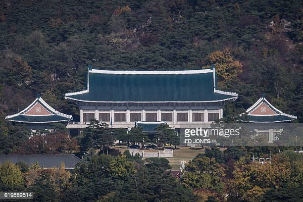 A general view shows the presidential Blue House in Seoul on November 1 2016 The woman at the centre of the snowballing political scandal engulfing...