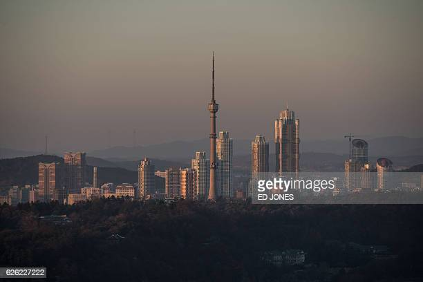 A general view shows the Pyongyang city skyline on November 28 2016 / AFP / Ed JONES
