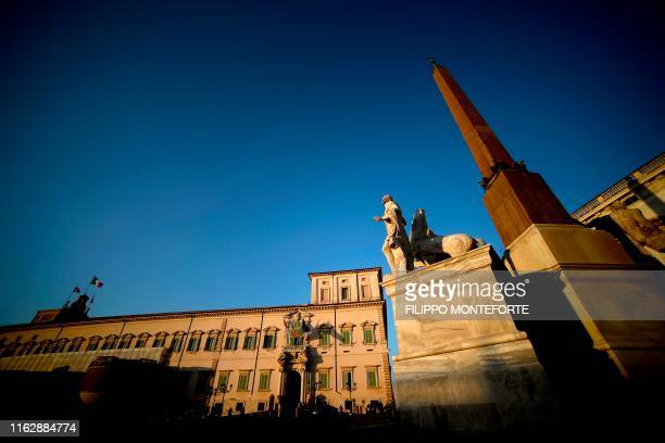 TOPSHOT A general view shows the Quirinale presidential palace in Rome as the country faces a political crisis on August 20 2019 On August 20 2019...