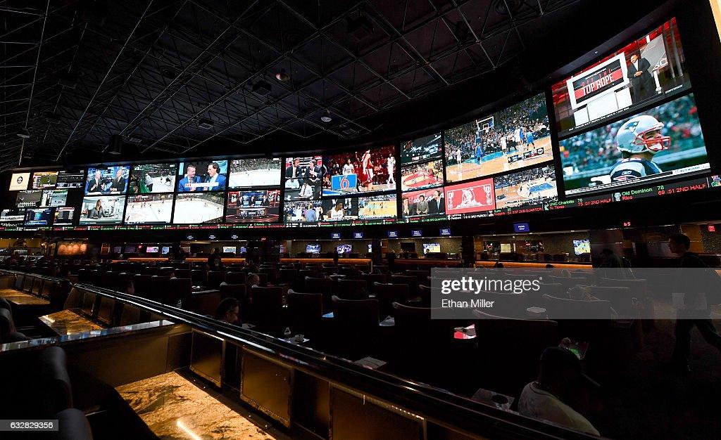 Super Bowl LI Proposition Bets At The Westgate Las Vegas Race & Sports SuperBook : News Photo