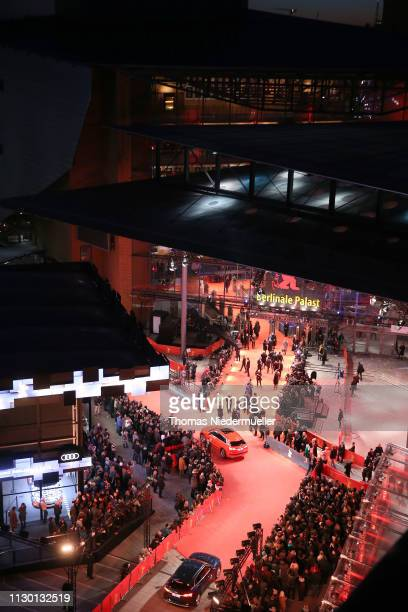 General view shows the red carpet of the closing ceremony of the 69th Berlinale International Film Festival Berlin at Berlinale Palace on February...