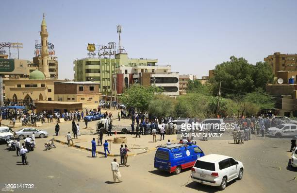 General view shows the site of an assassination attempt against Sudan's Prime Minister Abdalla Hamdok, who survived the attack with explosives...