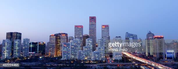 A general view shows the skyline of a central business district in Beijing on November 27 2013 AFP PHOTO / WANG ZHAO
