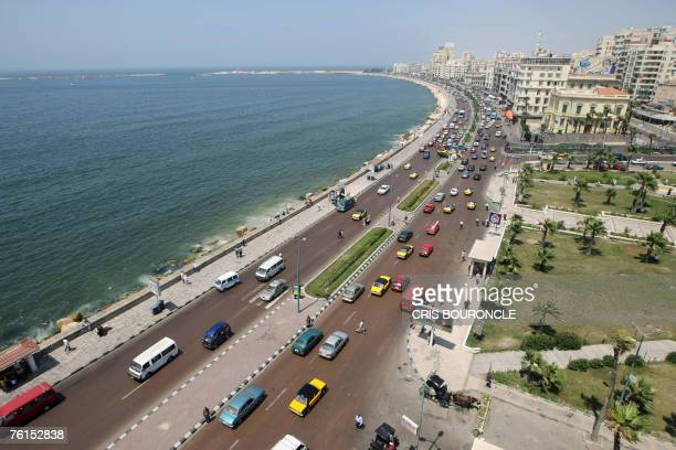 A general view shows the skyline of the Egyptian port city of Alexandria overlooking the Saad Zaghlul Plaza 19 June 2007 It took exactly half a...