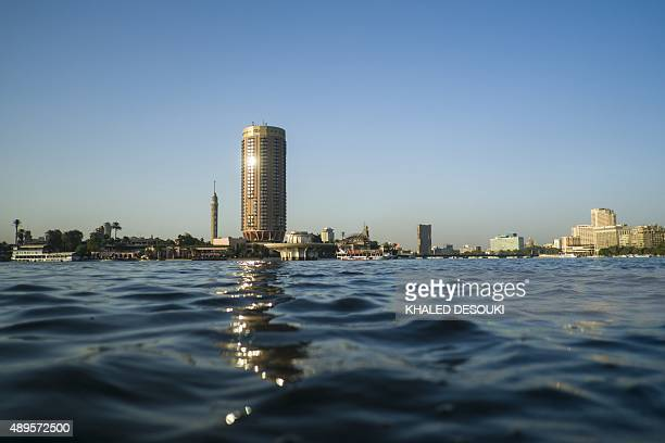 A general view shows the 'Sofitel' hotel on the bank of the Nile River in the Egyptian capital Cairo on September 22 2015 AFP PHOTO / KHALED DESOUKI