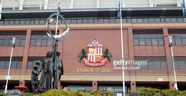 A general view shows the Stadium of Light home of Sunderland Association Football Club in Sunderland northeast England on April 2 2013 New Sunderland...