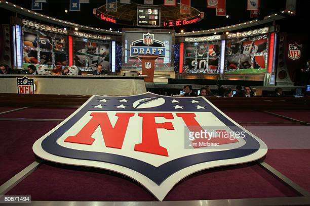 A general view shows the stage during the during the 2008 NFL Draft on April 26 2008 at Radio City Music Hall in New York City