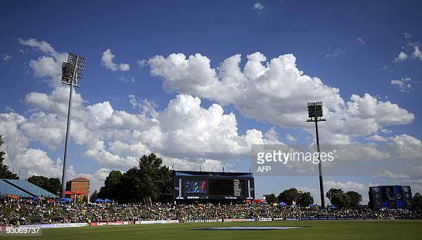 A general view shows the SuperSport Park in Centurion on November 15 2009 during the second and final Twenty20 international between South Africa and...
