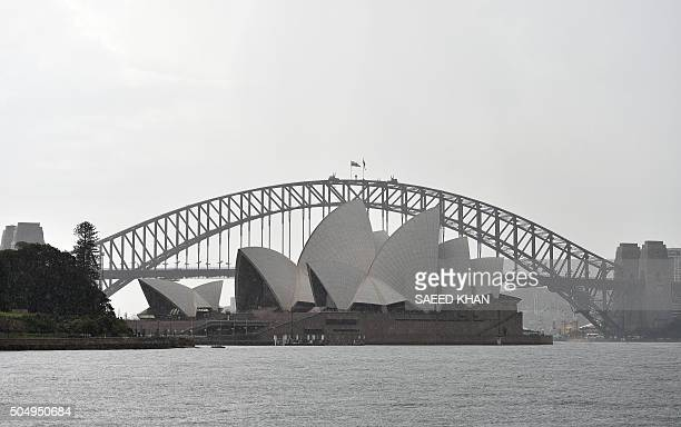 A general view shows the Sydney Opera House in Sydney on January 14 during a police search operation after a security scare sparked by 'information...