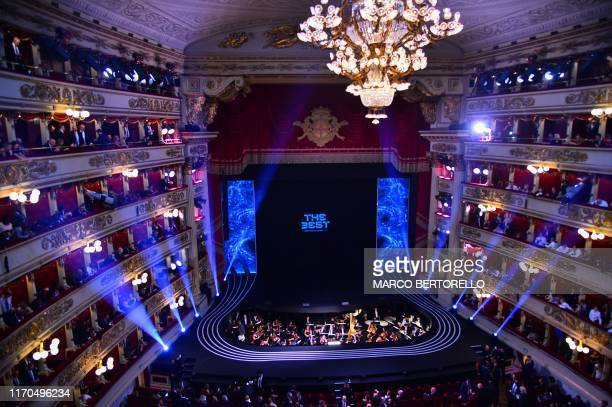 General view shows the Teatro Alla Scala during The Best FIFA Football Awards ceremony, on September 23, 2019 in Milan.