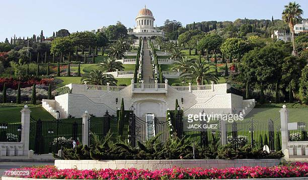 A general view shows the terraced gardens and Classicalstyle Bahai World Center in the port city of Haifa 24 October 2007 Dominating a holy mountain...