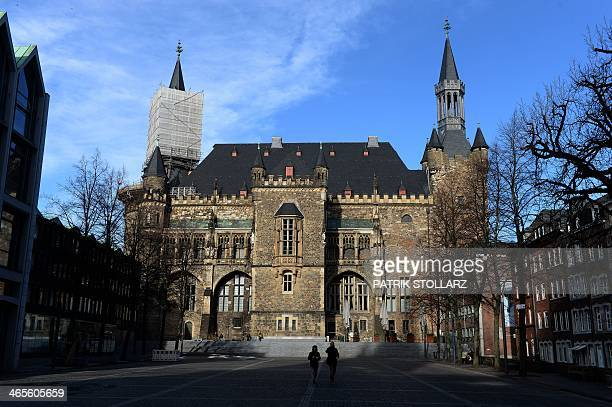 A general view shows the townhall of Aachen western German on January 28 2014 STOLLARZ