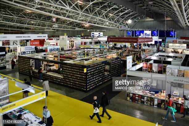 General view shows the Turin International Book Fair on May 9, 2019 in Turin.