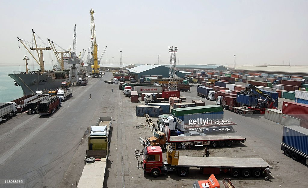 A general view shows the Umm Qasr port i : News Photo