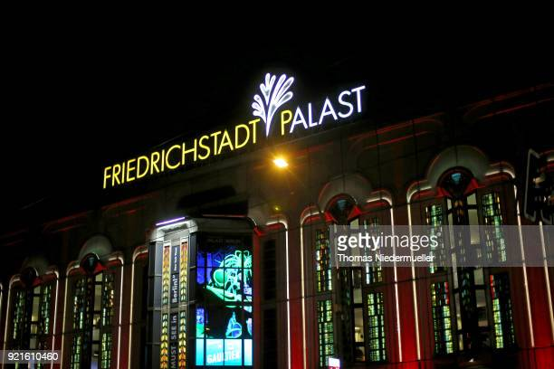 A general view shows the venue of the 'The Silent Revolution' premiere during the 68th Berlinale International Film Festival Berlin at...