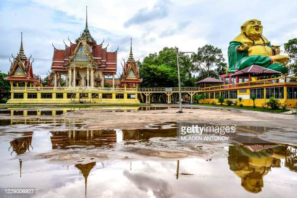 General view shows the Wat Nam Daeng Buddhist temple in Chachoengsao province, east of the Thai capital Bangkok, on October 11, 2020.