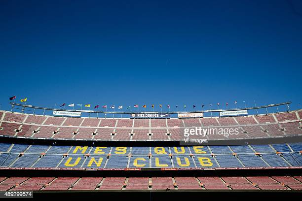 general view Stadium Estadio Camp Nou during the Primera Division match between FC Barcelona and Levante UD on September 20 2015 at Camp Nou stadium...