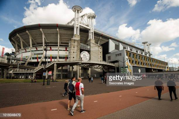 General view stadium of Ajax during the Dutch Eredivisie match between Ajax v Heracles Almelo at the Johan Cruijff Arena on August 11 2018 in...