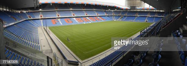 General view taken 04 October 2007 in Basel of the St Jakob Park stadium that will host the Euro 2008 football championships final AFPPHOTO SEBASTIEN...