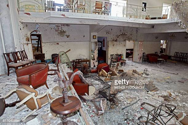 General view taken 19 May 2003 of Jewish cultural circle of Casablanca destroyed by 16 May suicide bombing A group of 14 terrorists divided into five...