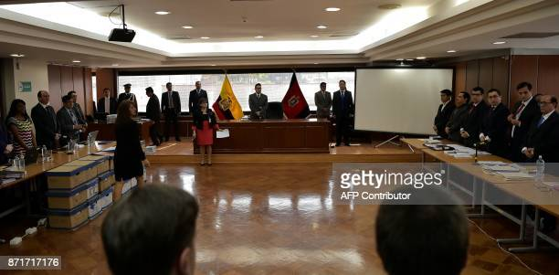 General view taken before a hearing where the prosecutor's office will decide if it will formally charge Ecuador's suspended Vice President Jorge...