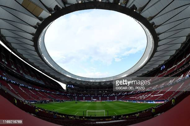 General view taken before the UEFA Champions League Group D football match between Atletico Madrid and Juventus of The Wanda Metropolitano Stadium in...