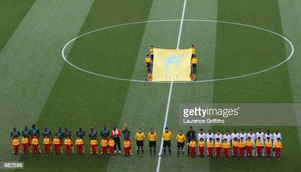 General view taken during the FIFA World Cup Finals 2002 Group E match between Cameroon and Saudi Arabia played at the Saitama Stadium, in...