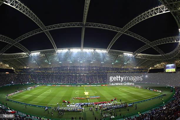 General view taken during the FIFA World Cup Finals 2002 Group G match between Italy and Mexico played at the Oita Big Eye Stadium in Oita Japan on...