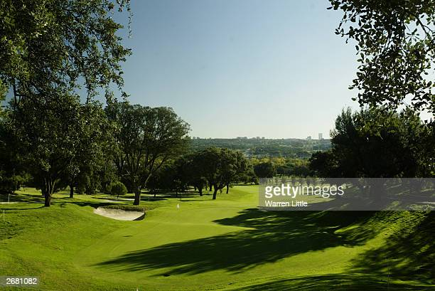 General view taken during the first round of the Telefonica Open de Madrid held on October 23 2003 at the Club de Campo Villa de Madrid in Madrid...