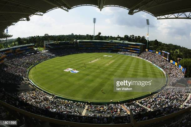General view taken during the ICC Cricket World Cup 2003 Pool A match between Australia and Pakistan held on February 11 2003 at The Wanderers in...