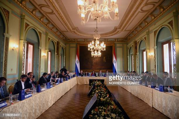 General view taken during the meeting to confirm Paraguay's joining to the UruguayArgentinaChileParaguay 2030 FIFA World Cup bid to host the 2030...