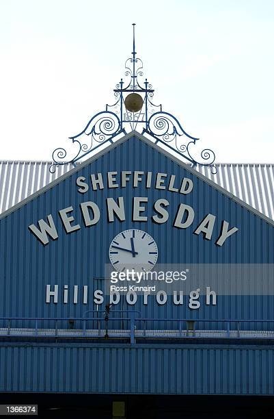 General view taken during the Nationwide Division One match between Sheffield Wednesday v Sheffield United played at Hillsborough Stadium in...