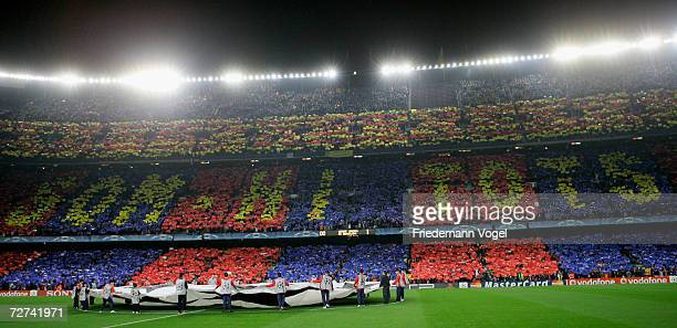 General view taken during the UEFA Champions League Group A match between FC Barcelona and Werder Bremen at the stadium Camp Nou on December 5, 2006...