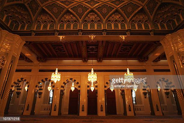 A general view taken inside the Grand Mosque prior to the 2nd Asian Beach Games Muscat 2010 at the Sultan Qaboos Grand Mosque on December 7 2010 in...