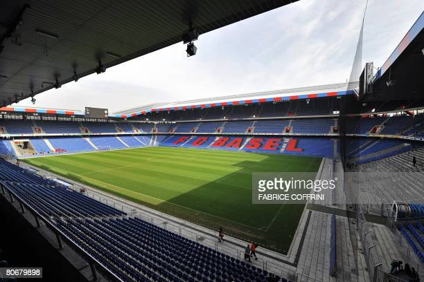 A general view taken on April 12 2008 shows the St Jakob Park stadium in Basel The city has emerged as Switzerland's premier football venue since the...