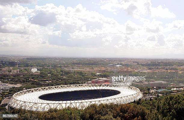 A general view taken on April 30 2009 shows the Olympic Stadium in Rome which will host on May 27 the final match of the football Champion LeagueAFP...