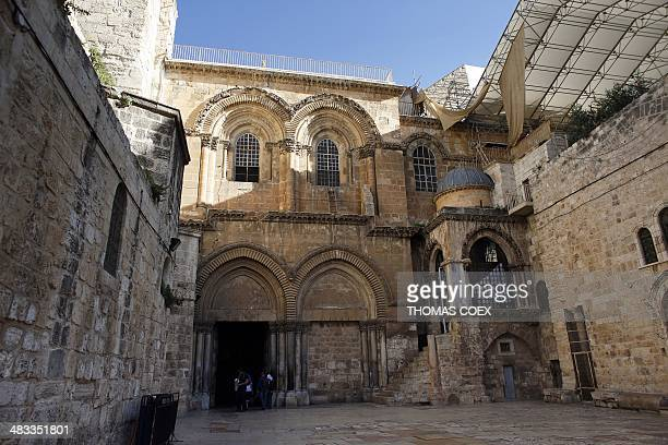 General view taken on April 7, 2014 shows one of Christianity's holiest sites, The Church of the Holy Sepulchre, also known as the Basilica of the...