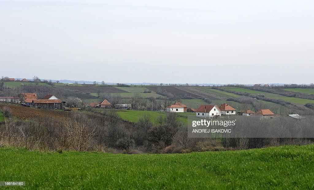 General view taken on April 9, 2013, showing the village of Velika Ivanca, 40 kilometres south of capital Belgrade, where a man shot dead 13 relatives and neighbours, including a two-year-old child, in the country's worst killing spree in two decades..