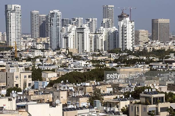 A general view taken on December 11 2104 shows buildings in the Israeli Mediterranean coastal city of Tel Aviv AFP PHOTO / JACK GUEZ