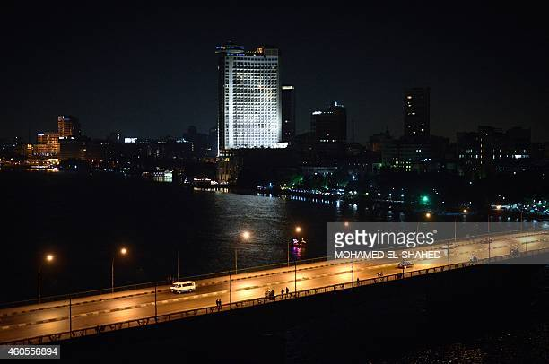 A general view taken on December 16 2014 shows Egypt's Nile river and University Bridge in Cairo AFP PHOTO / MOHAMED ELSHAHED
