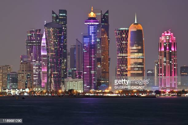 General view taken on December 20, 2019 shows the skyline of the Qatari capital Doha.
