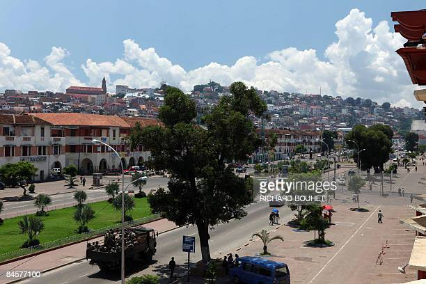 General view taken on February 1, 2009 shows a street in the capital Antananarivo as life seemed to return to normal following a week of unrest that...