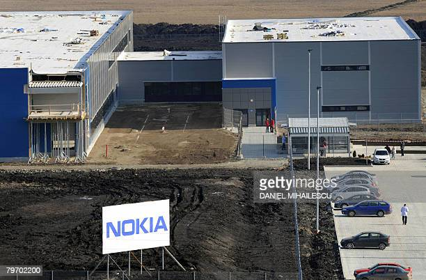 A general view taken on February 11 2008 shows the Nokia factory in the village of Jucu 500 kms northwest of Bucharest after the Finnish cellphone...