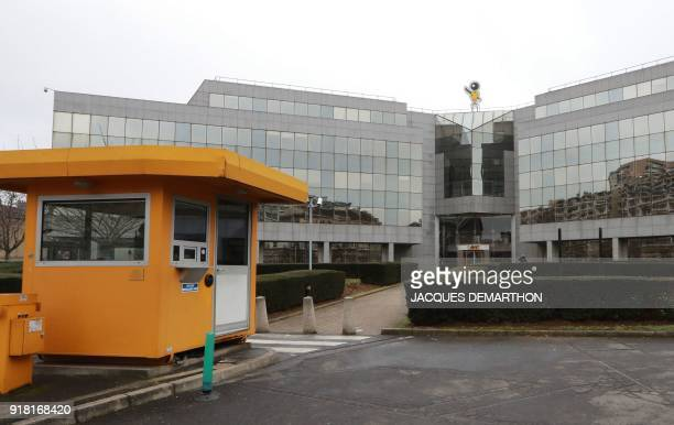A general view taken on February 14 2018 shows the headquarters of Bic French maker of lighters pens and razors in Clichy near Paris The company's...