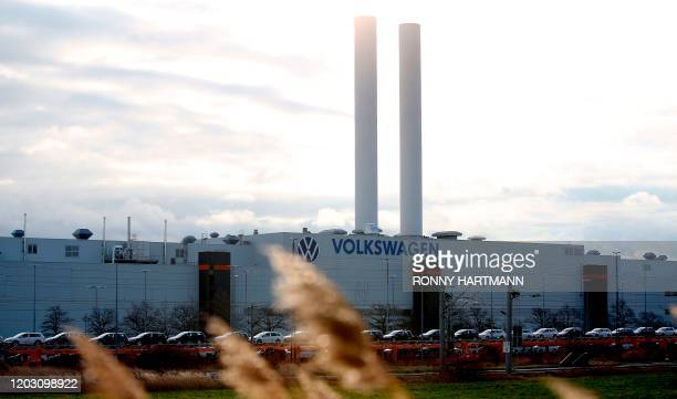 General view taken on February 25, 2020 shows the plant of German car maker Volkswagen in Zwickau, eastern Germany.