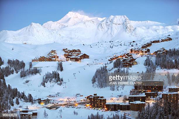 General view taken on January 6 2010 shows the La Plagne ski resort AFP PHOTO JEANPIERRE CLATOT