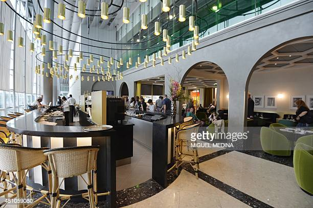 A general view taken on July 17 2015 shows the gastronomic restaurant 'I love Paris' at the International Airport Charles de Gaulle northern Paris...