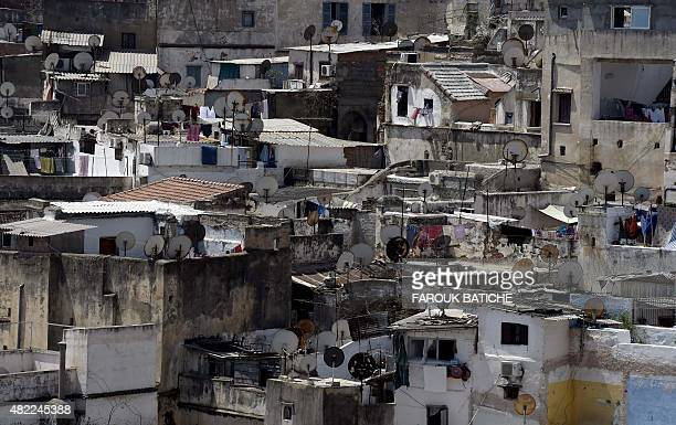 A general view taken on July 28 2015 shows the old part of Algiers known as the 'Kasbah' AFP PHOTO / FAROUK BATICHE