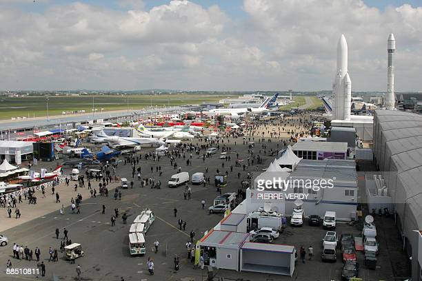General view taken on June 16 2009 during the 48th international Paris Air Show at Le Bourget airport Aviation manufacturers sought Monday to lift...